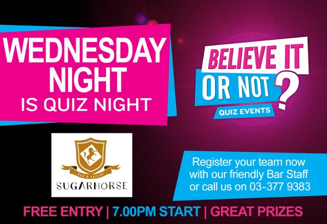 Wednesday Quiz Night